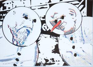Morn and Quark Snowman Postcard1