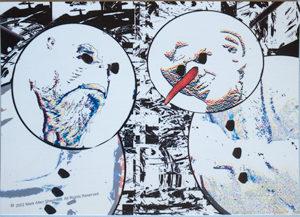 Morn and Quark Snowman  Postcard2 (detailed)